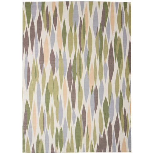 "Waverly Sun & Shade ""Bits & Pieces"" Violet Indoor/Outdoor Area Rug by Nourison"