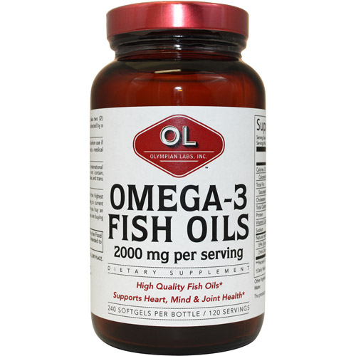 Olympian Labs Omega 3 Fish Oils Softgels Super Size, 240ct