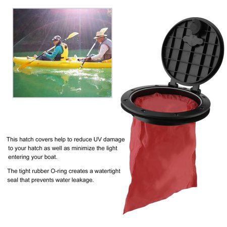 6 Inch Waterproof Hatch Cover ABS Deck Plate Kit With Storage Bag