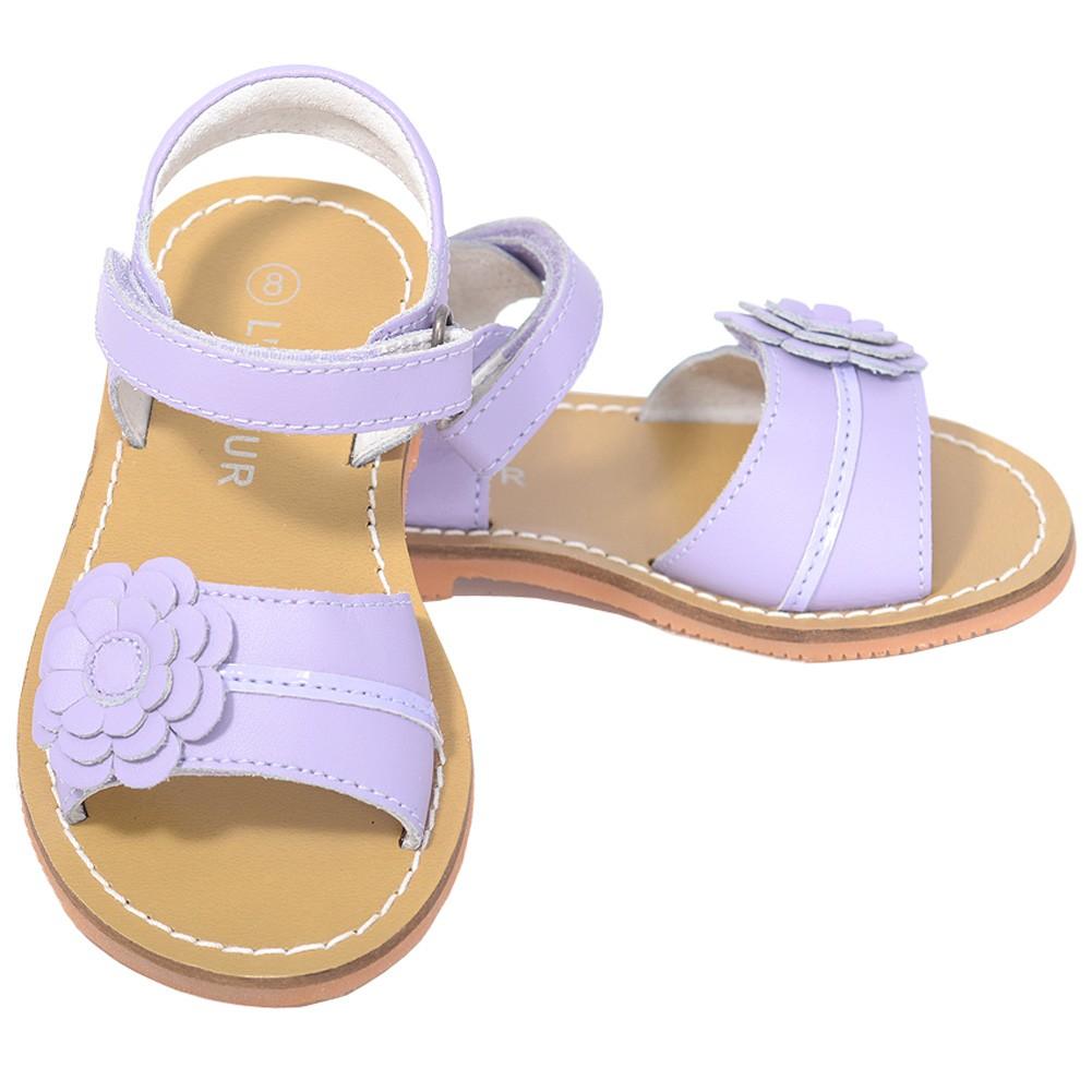 L'Amour Lilac Flower Spring Summer Sandal Shoe Toddler Girl 5-10