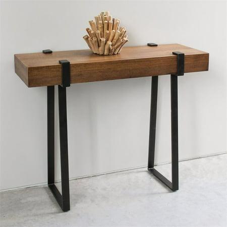 International Caravan Hamburg Wood Console Table in Canyon Oak - image 2 de 4