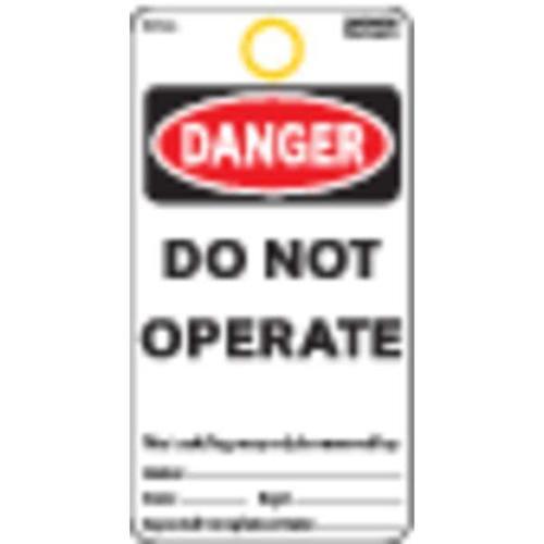 ELECTROMARK 5010C Danger Tag, 5-3/4 x 3 In, Cardstock, PK25