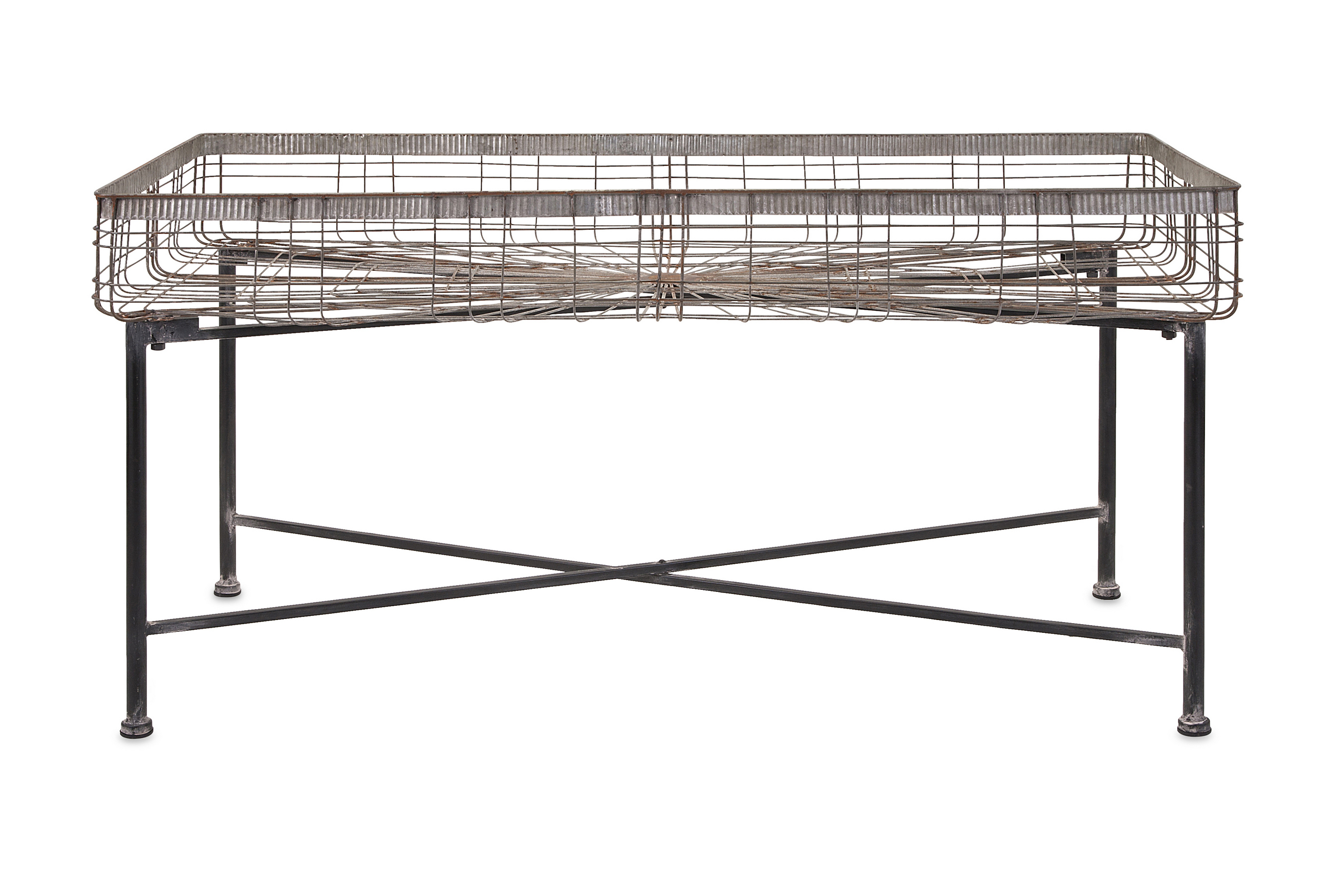 Enticing Pitzer Rectangle Wire Plant Stand by Benzara