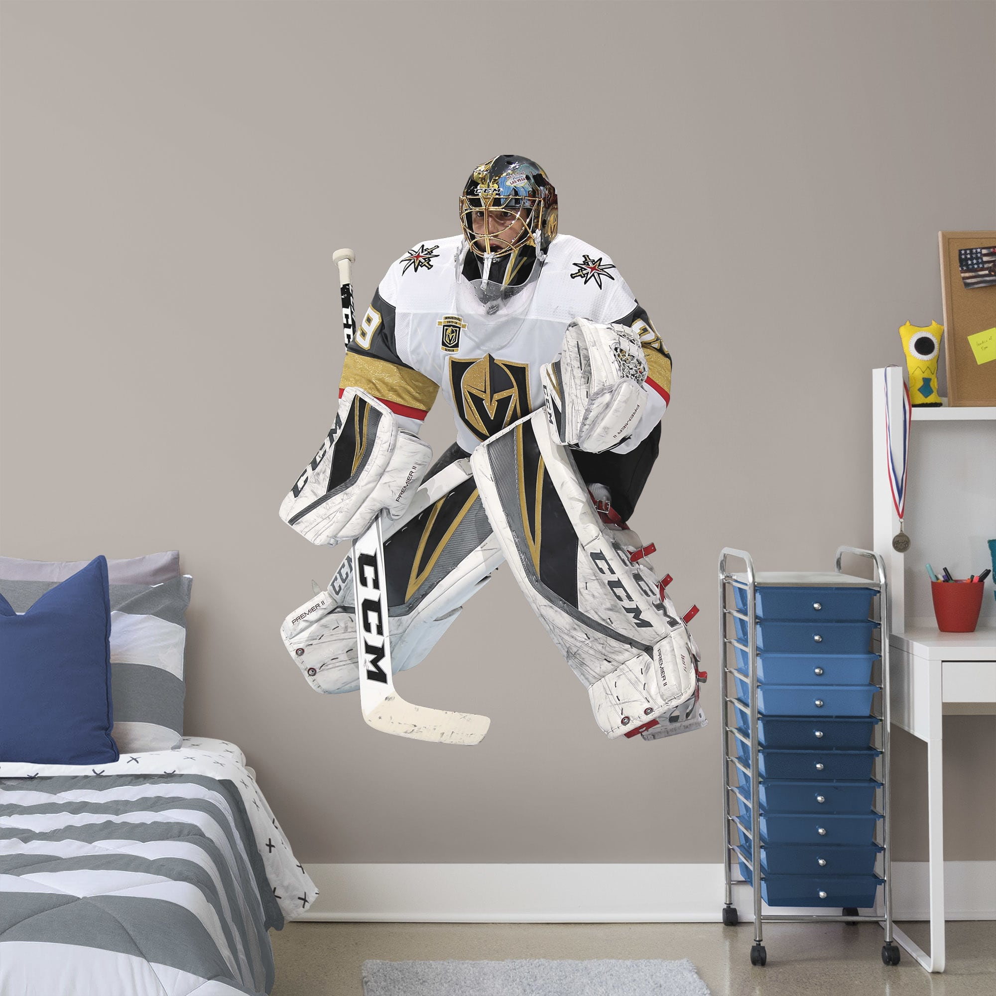 Fathead Marc Andre Fleury Life Size Officially Licensed Nhl Removable Wall Decal Walmart Com Walmart Com