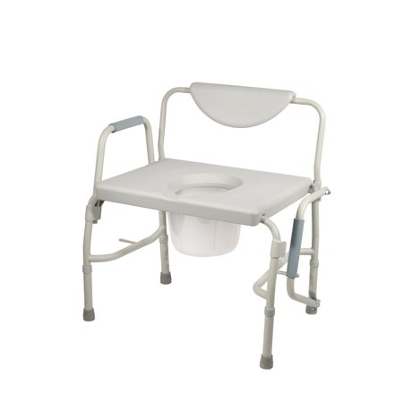 Bariatric Commode (Drive Medical Bariatric Drop Arm Bedside Commode Chair )