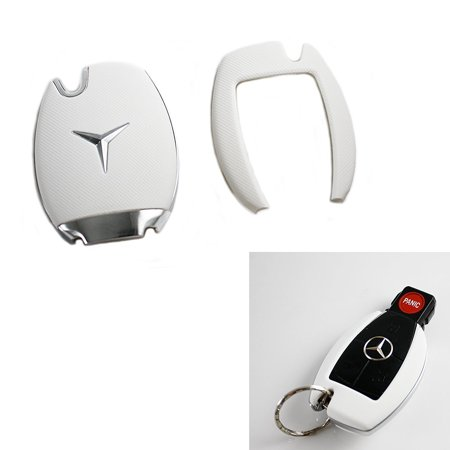 Xotic Tech Keyless Smart Key Fob Matte White Shell Cover Case for  Mercedes-Benz C E S M CLS CLK G Class