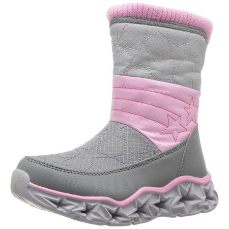 - Skechers Kids Girls Galaxy Lights-Star Brights Sneaker, Grey/Pink, Toddler