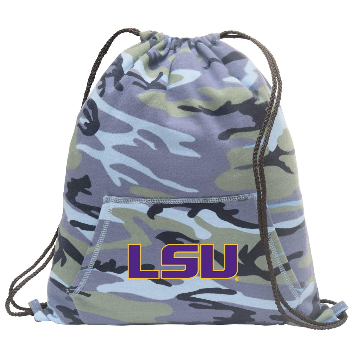 LSU Drawstring Bag Blue Camo Official LSU Tigers Cinch Backpack for Boys Girls Men Women