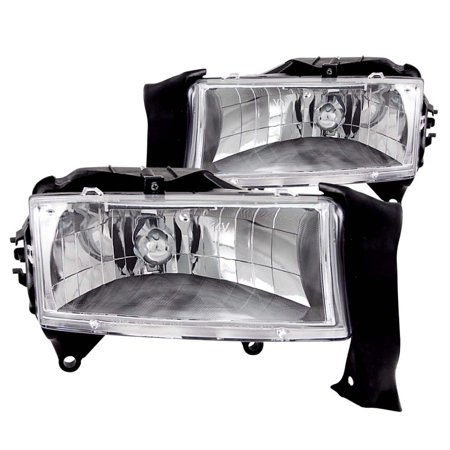 - ANZO USA 111021 98-03 DURANGO/97-04 DAKOTA HEADLIGHTS CRYSTAL CHROME