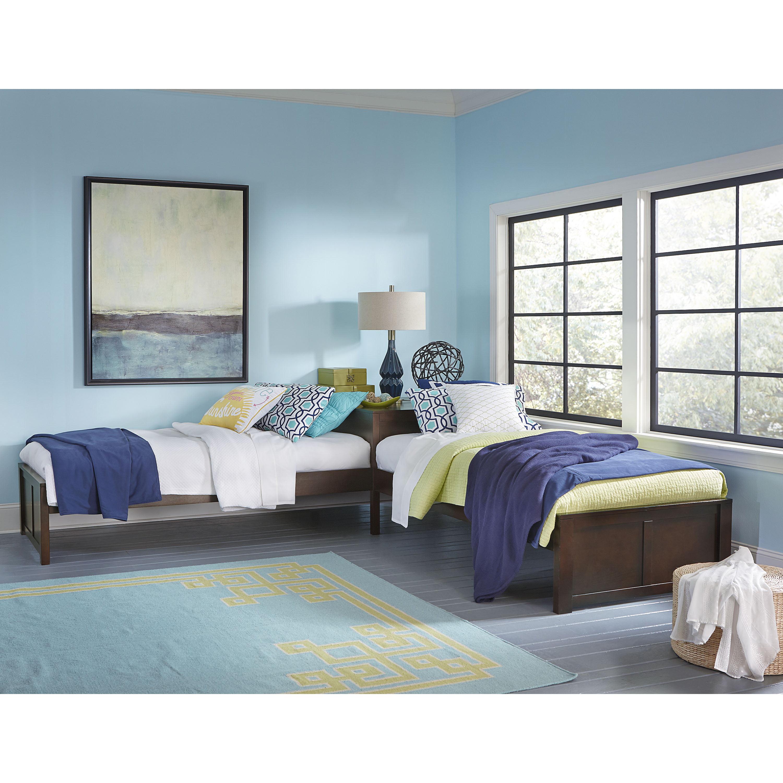 Hillsdale Pulse L Shaped Two Twin Beds Chocolate Finish Walmart Com Walmart Com