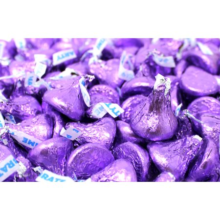- Hershey's Kisses, Milk Chocolate in Purple Foils (Pack of 3 Pounds)