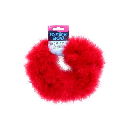 Darice Feather Boa Marabou 2yd Red