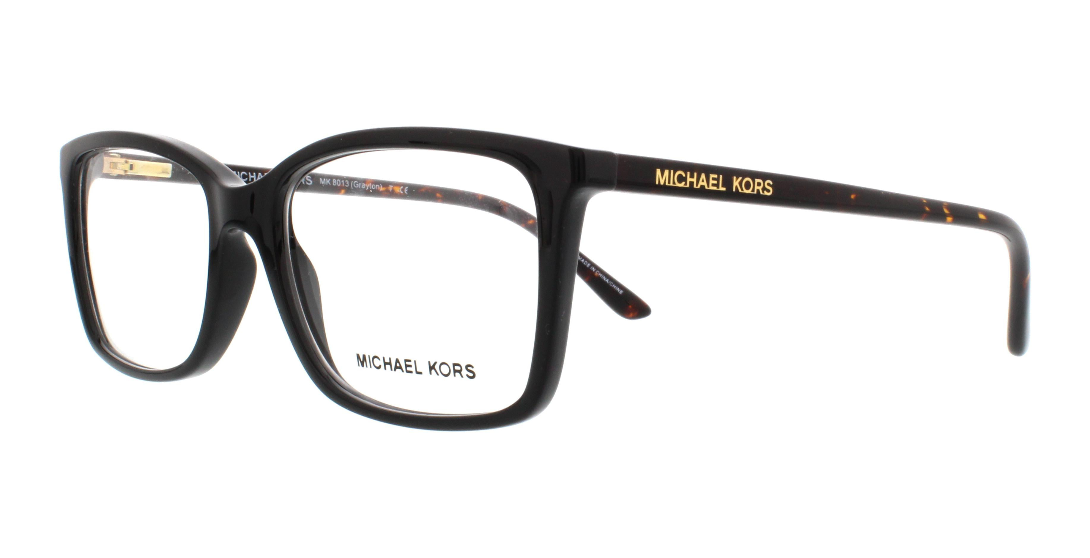 97692f6c116 MICHAEL KORS Eyeglasses MK 8013 3056 Black Tortoise 53MM - Walmart.com