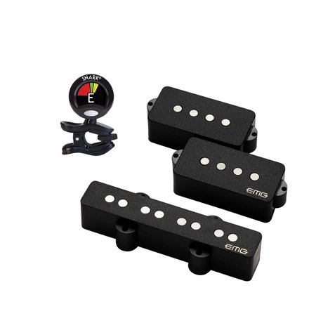 EMG Geezer Butler Signature PJ Bass Pickup Set with Snark SN5X Clip-On Tuner