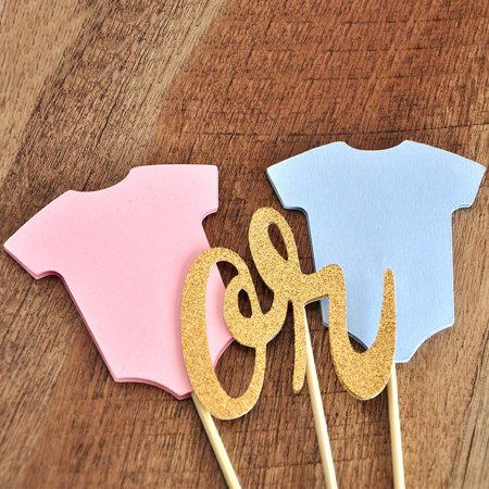 Reveal Gender Ideas (Gender Reveal Cake Topper.  Ships in 1-3 Business Days.  Gender Reveal)