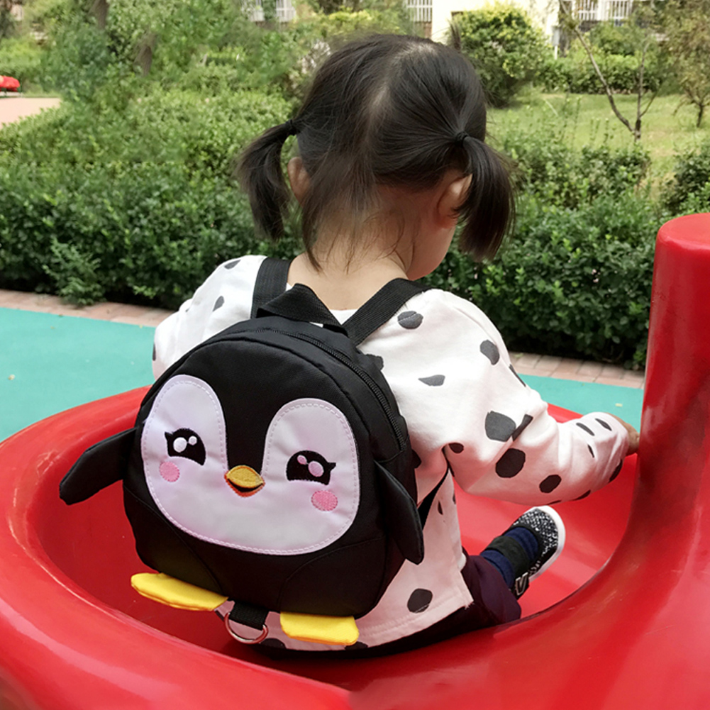 HURRISE Cute Cartoon Penguin Baby Safety Harness Backpack Toddler Anti-lost Bag Children Schoolbag