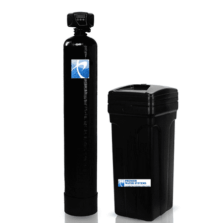 - FLECK 5600 Metered Whole House Water Softener System (48,000 Grain, 10x54