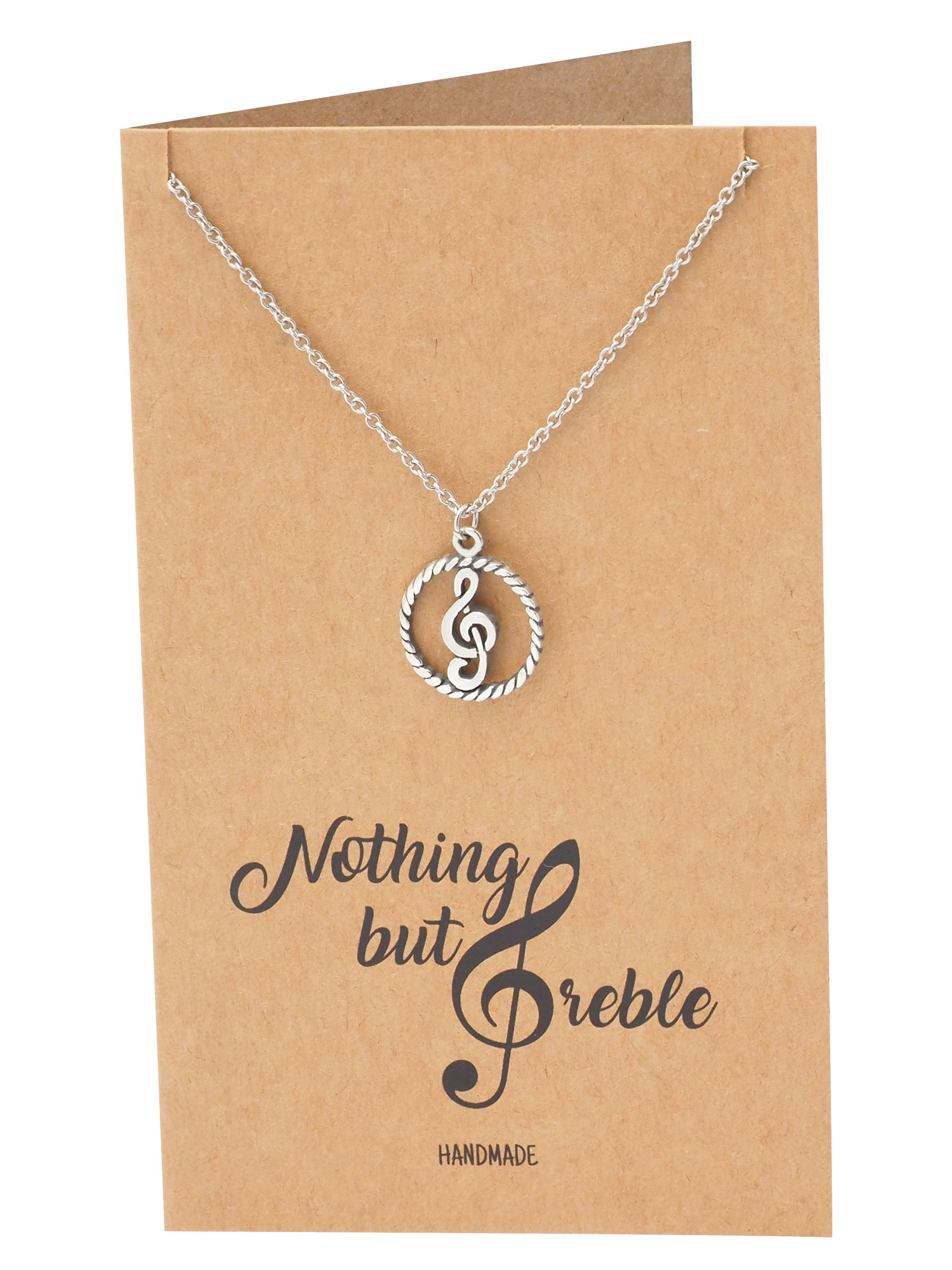 Treble Cleft Jewelry Gifts for Teachers Gifts for Music Lovers Music Teach Gift Music Gift Sterling Silver Treble Cleft Necklace