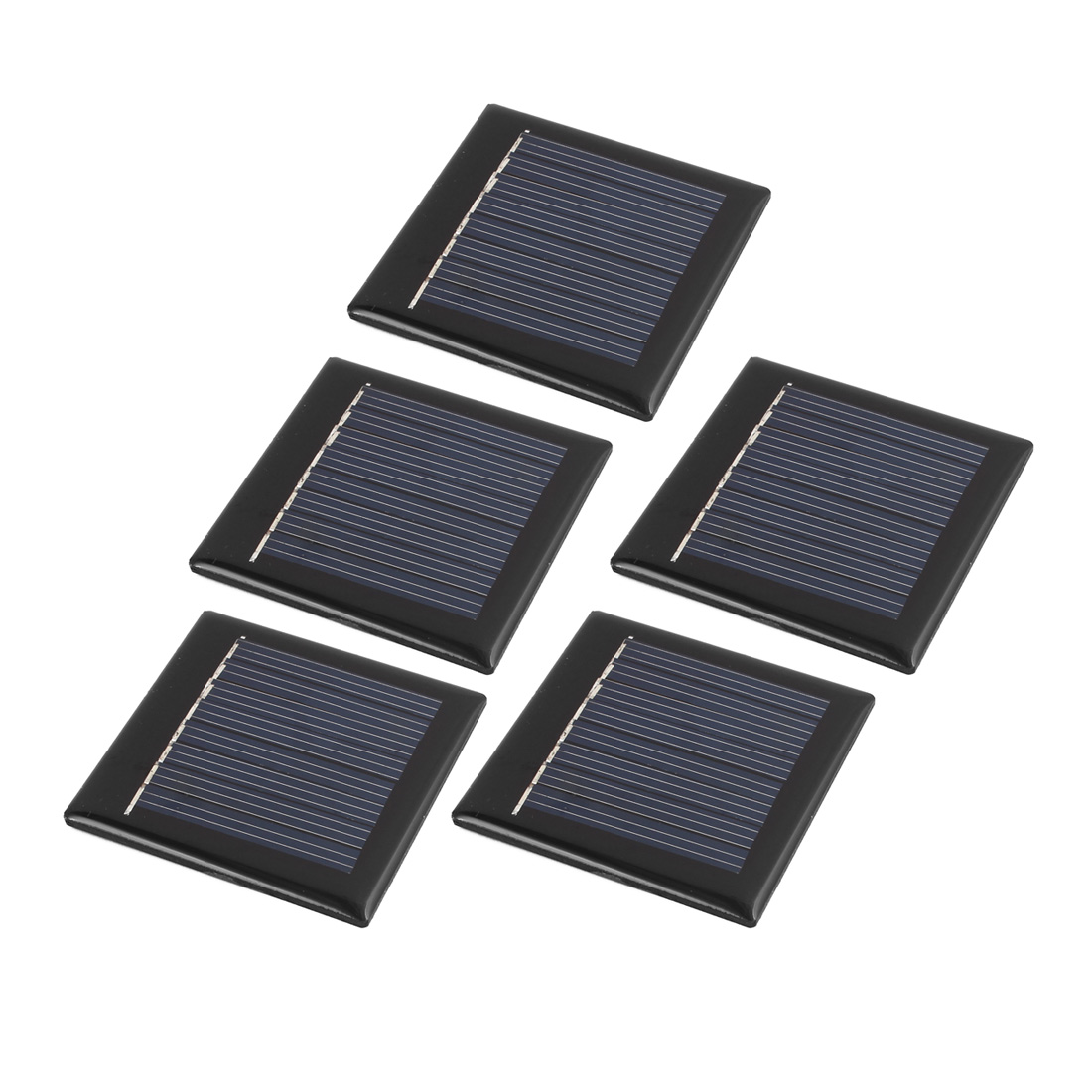 5Pcs 55mmx55mm 4 Volts 40mA Monocrystalline Solar Cell Panel Module