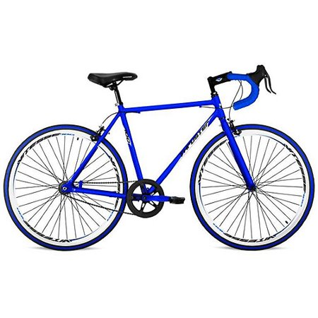 700C Thruster Fixie Mens Bike With Drop Bars  Blue