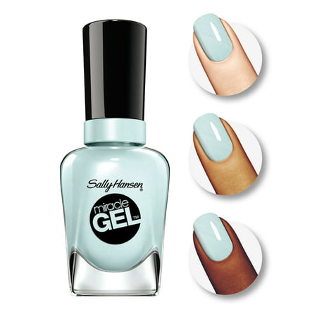 Sally Hansen Miracle Gel Nail Polish, Tea Party (Best Matte Nail Polish Top Coat)