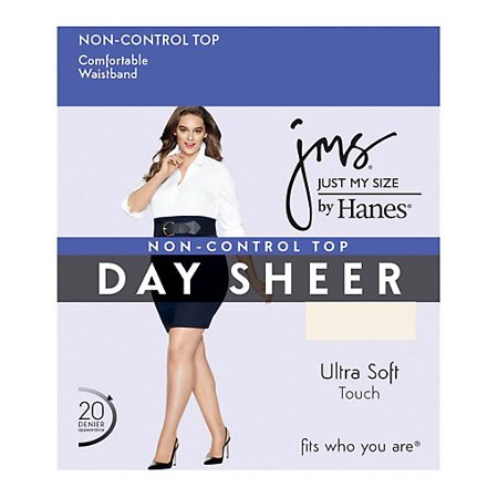 JMS Regular, Sheer Toe - 2X-4X Pantyhose (4 Pack Grey Hosiery)