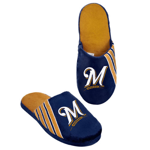 MLB - Milwaukee Brewers Hard Sole Stripe Slipper