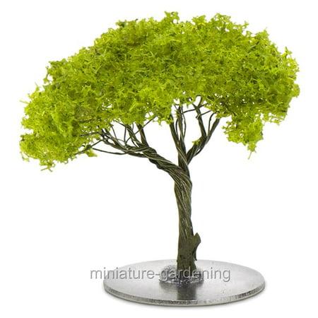 Miniature Faux Green Maple Bonsai Tree for Miniature Garden, Fairy Garden