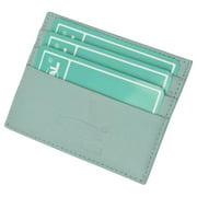 Premium Baby blue Soft Genuine Leather Simple Credit Card Holder