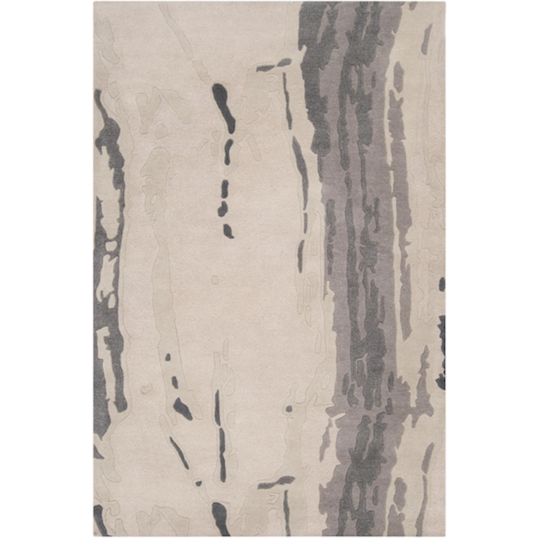 2' x 3' Klein Contour Parchment Wool Area Throw Rug