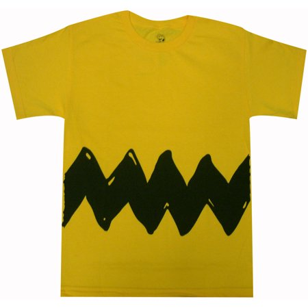 Peanuts Charlie Brown Double Sided Zig Zag Costume Youth T-Shirt - Peanuts Lucy Costume