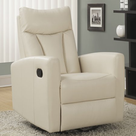(Monarch Recliner Swivel Glider / Ivory Bonded Leather)
