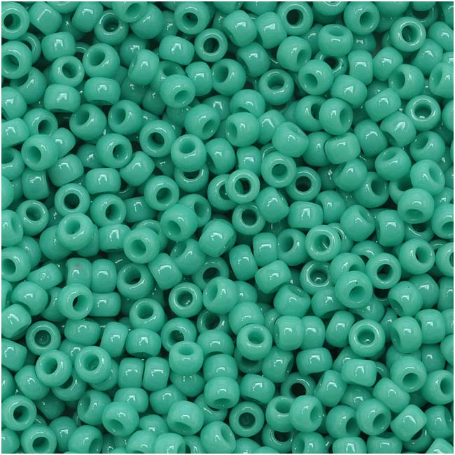 Toho Round Seed Beads 11/0 #55 'Opaque Turquoise' 8 Gram Tube