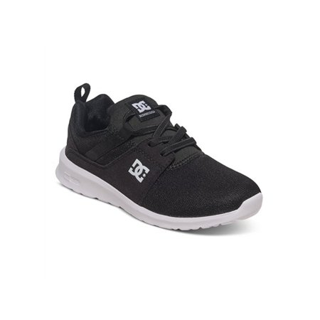 DC Kid's Heathrow Sneakers Black Leather 10.5 Little Kid M Dc Kids Shoes