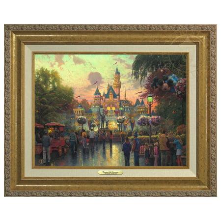 Thomas Kinkade Disneyland, 50th Anniversary - Canvas Classic (Gold Frame)