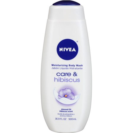 Body Wash Cherry Almond (2 Pack - NIVEA Moisturizing Body Wash Care & Hibiscus, Almond Oil Hibiscus Scent, 16.9)