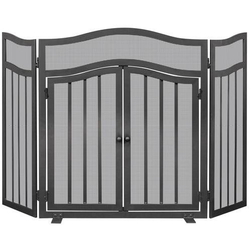 Uniflame Corporation 3 Panel Wrought Iron Fireplace Screen by Blue Rhino Global Sourcing, LLC