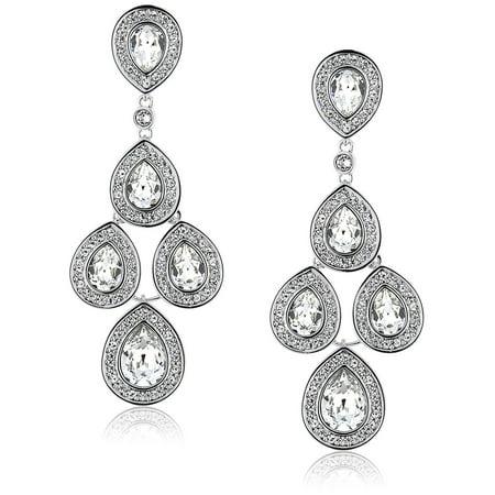 839a4a81a Swarovski - Clear Crystal Jewelry SENSATION Pierced Earrings Rhodium  #1156254 - Walmart.com