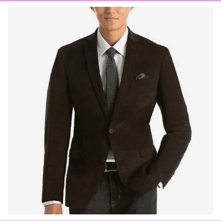 Kenneth Cole Men's Slim-Fit Corduroy Sport Coat, Dark Brown, 40L