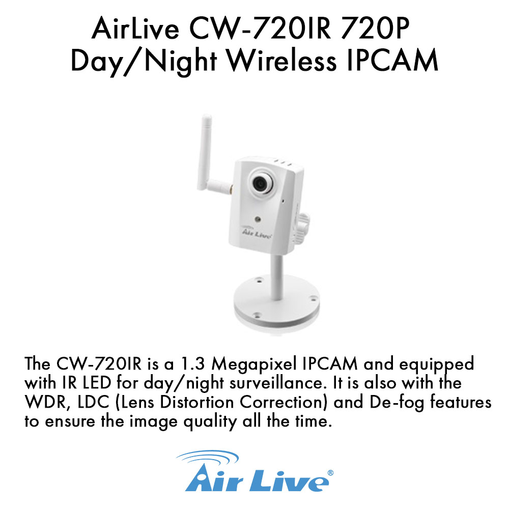 AirLive CW-720IR 720P Day/Night Wireless IPCAM