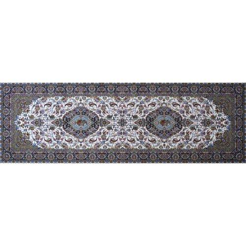 Astoria Grand Mathieu Hand Look Persian Wool Brown/Green/Ivory Area Rug