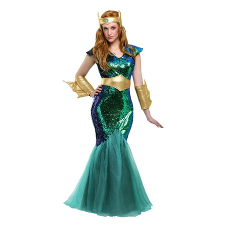Women's Sea Siren Plus Size Costume - Sea Siren Halloween Costume