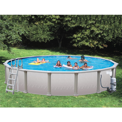 Heritage 18' x 52'' Above Ground Swimming Pool with Vinyl-Coated Frame by Swim 'N Play Inc.