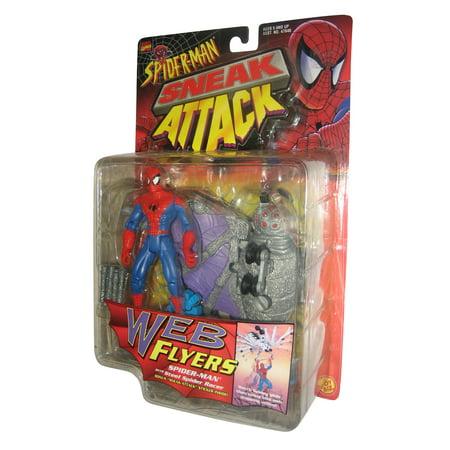 - Marvel Comics Spiderman Sneak Attack Web Flyers Toy Biz Figure w/ Steel Racer