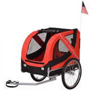 2 in 1Pet Bicycle Trailer Dog Jogger Carrier, Red