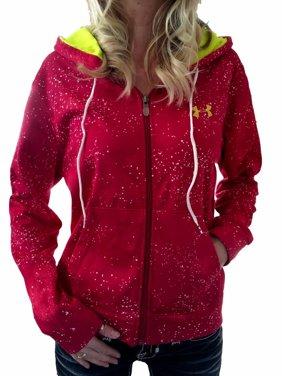 ef40c46b2c8c Product Image Women s New Under Armour Magenta Splatter ColdGear Logo Loose  Full Zip Hoodie S