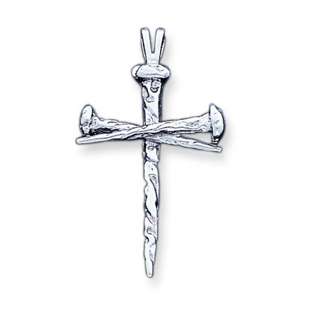 14K White Gold Nail Cross Charm Pendant Jewelry (Gold Nail Charms)