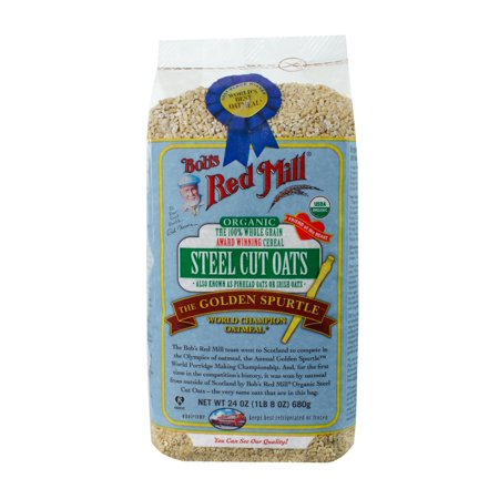 (4 Pack) Bobs Red Mill Organic Steel Cut Oats, 24 (Organic Scottish Oatmeal)