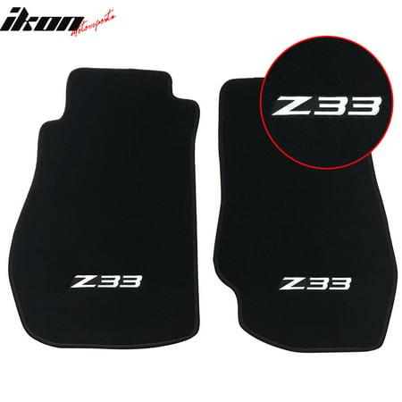 350z Floor Mats - Fit 03-09 Nissan 350Z Z33 Logo OE Fitment Floor Mats Carpet Nylon 2PC Black