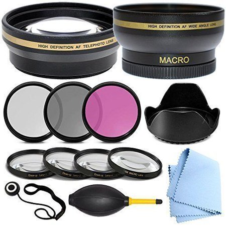 Professional 52MM Accessory Kit for Samsung NX 50-200mm F4-5.6 OIS - Includes: 52 mm Close-Up Lens Kit, 52mm Wide Angle Lens, 2.2x Telephoto Lens, Glass Filter Kit & More